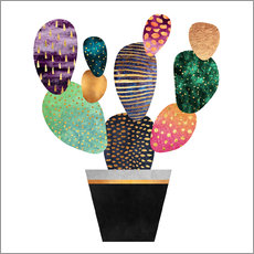 Wall Sticker  Pretty cactus - Elisabeth Fredriksson