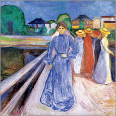 Premium poster  The Ladies on the Bridge - Edvard Munch