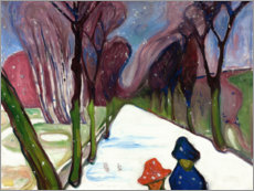 Wall sticker  New Snow in the Avenue - Edvard Munch