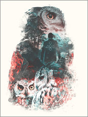 Wall sticker  The Owls are Not What They Seem - Barrett Biggers