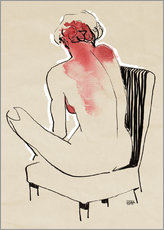 Wall Sticker  Sitting nude - Pieter Hogenbirk