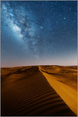 Wall sticker  Milky way over dunes, Oman - Matteo Colombo