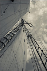 Wall sticker  Sails and masts of a schooner - Walter Bibikow