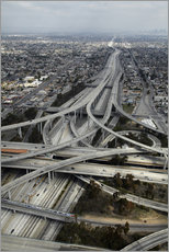 Gallery print  Highways in Los Angeles - David Wall