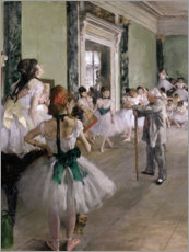 Wall sticker  Dancing lesson - Edgar Degas