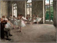 Gallery print  The rehearsal - Edgar Degas