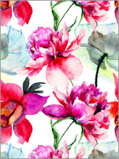 Gallery print  Poppies and peonies