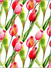 Wall sticker Tulips flowers