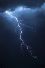 Wall sticker  Stormy clouds with flash of lightning - Johan Swanepoel