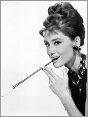 Gallery Print  Audrey Hepburn with cigarette holder