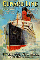 Gallery print  Cunard Line - Liverpool, New York, Boston - Edward Wright