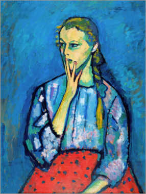 Foam board print  Portrait of a Girl - Alexej von Jawlensky