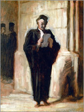 Wall sticker  Reading lawyer. - Honoré Daumier