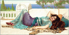 Gallery Print  Mischief and Repose - John William Godward