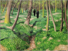 Wall sticker  Spring undergrowth (Sous Bois de printemps) - Felix Edouard Vallotton