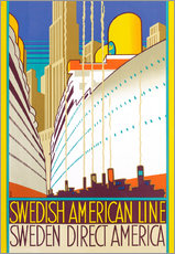 Wall sticker Sweden-America Cruise Ship