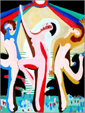 Wall Sticker  colors dance - Ernst Ludwig Kirchner