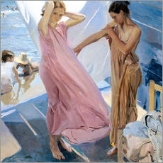 Wall sticker  After Bathing, Valencia - Joaquin Sorolla y Bastida