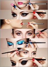 Wall sticker Make-up Routine II
