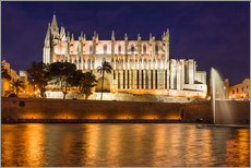 Wall sticker  Cathedral of Palma de Mallorca at night - Christian Müringer