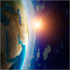 Wall sticker Earth seen from space