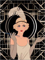 Wall Stickers  Smart Flapper Girl