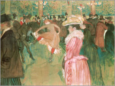 Gallery print  The dance at the cabaret - Henri de Toulouse-Lautrec