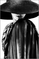 Gallery Print  woman with black hat