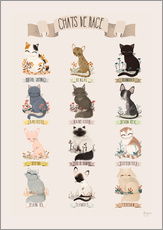 Wall Stickers  cat breeds french - Kanzi Lue