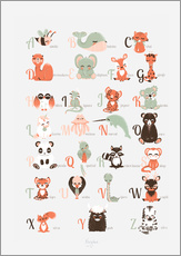 Wall sticker  ABC animals (French) - Kanzilue