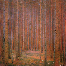 Canvas print  Fir tree forest I - Gustav Klimt