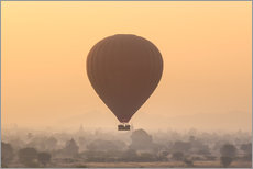 Wall Stickers  Hot air balloon over temples of Bagan, Myanmar
