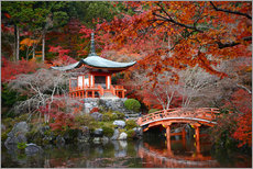 Gallery print  Daigoji Temple in Kyoto in autumn