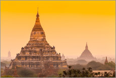 Wall sticker  Sunrise over ancient Bagan