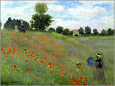 Wall sticker  Poppy field at Argenteuil, detail - Claude Monet
