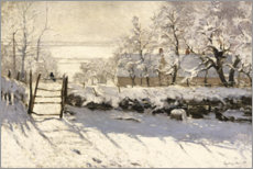 Gallery print  The magpie - Claude Monet