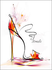 Wall sticker  High heels