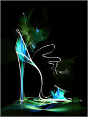 Gallery print  Blacklight High Heel