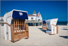 Gallery print  Beach chairs on the beach of Usedom in Ahlbeck