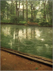 Wall sticker  The Yerres in the rain - Gustave Caillebotte