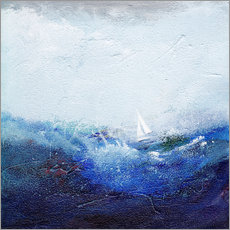 Gallery print  Boat on the waves - Vittorio Vitale