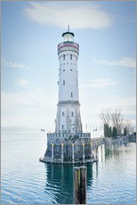 Gallery print  beautiful lighthouse at Lindau