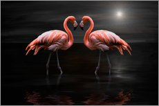 Wall sticker  Flamingos at night - Heike Langenkamp