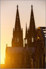 Wall Stickers  Sunset behind the Cologne Cathedral