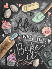 Wall sticker Life is what you bake it