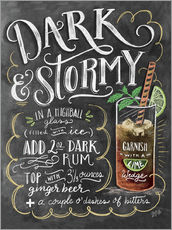 Gallery print  Dark & Stormy cocktail recipe - Lily & Val