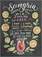 Gallery print  Sangria recipe - Lily & Val