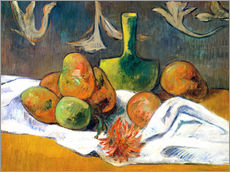 Gallery print  Still Life with Teapot and Fruit - Paul Gauguin