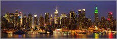Gallery print  Illuminated night skyline, New York