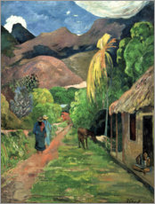 Canvas print  Road into the mountains - Paul Gauguin